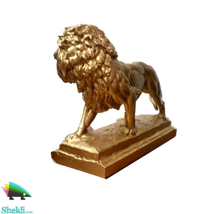 مجسمه-شیر-انگلیسی طلایی