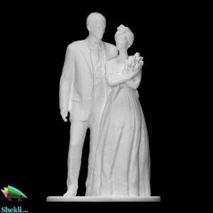 مجسمه عروس و داماد